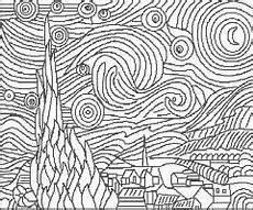 ausmalbilder kunst grundschule kunst gogh lehrmittel gemeinschaft und grundschulen