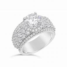 diamond halo engagement ring with wide band the diamond