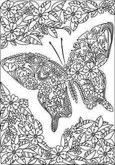 Ausmalbilder Blumen Schmetterlinge Butterfly Coloring Pages For Adults Visual Arts Ideas