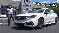 2018 acura tlx a spec review and test drive first gear youtube