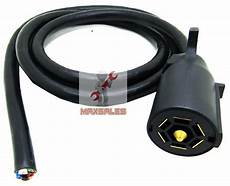 new 7 way electrical plug 7ft cable rv towing trailer brake wiring harness ebay