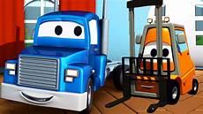 carl der transformer truck und der gabelstabler in car