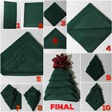 Papierservietten Falten Weihnachten - how to fold napkins into trees