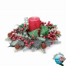 centrotavola candela centrotavola natalizio con candela rossa