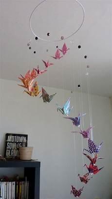 mobile original pour bébé mobile b 233 b 233 quot spirale quot grues origami et perles by