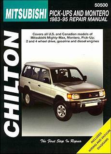 mitsubishi pick up montero 1983 1995 chilton owners service repair manual 0801986664
