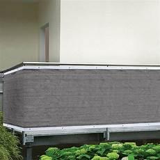 Balkon Sichtschutz Stoff Meterware - balkonsichtschutz h 246 he 0 9 m meterware grau bauhaus