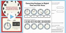 converting analogue to digital time and vice versa lesson converting