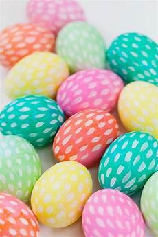 Brushstroke Painted Easter Eggs Tell And
