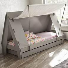 kinderbett ausziehbar ausziehbares kinderbett mit zeltdach l 228 dt zu abenteuern ein