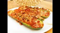 Rezept Gefüllte Zucchini - gef 252 llte zucchini mit hackfleisch und paprika
