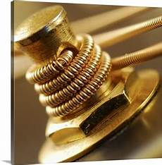 metal guitar tuning metal guitar string wound up tight around a guitar tuning knob wall canvas prints framed