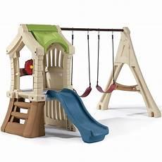 kid swing set play up set swing set step2