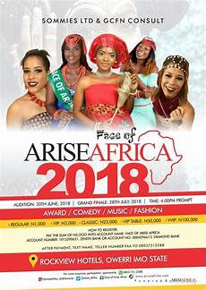 pageant and awards how face of arise afrika will clock 3 july 28 otowngist