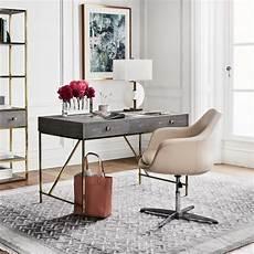 buy home office furniture faux shagreen desk grey brass office furniture design