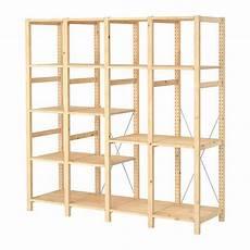 ivar 4 section shelving unit pine solid pine shelves