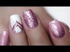 rosa nägel mit glitzer pink gellac uv n 196 gel selber machen glitzer shellac gel