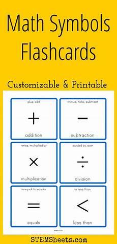 algebra worksheets symbols 8584 math symbols flashcards customizable and printable flashcards math math for