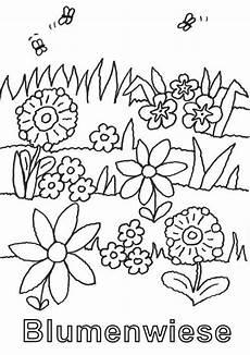 Ausmalbilder Blumen Wiese Kostenlose Malvorlage Natur Blumenwiese Zum Ausmalen Zum