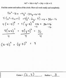 which is an equation of a circle with center 2 10 and radius 3 tessshebaylo