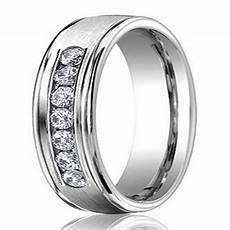 6mm men s palladium diamond wedding ring with satin finish justmensrings com