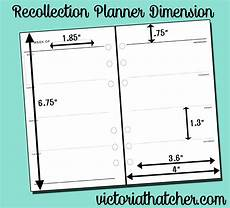 Planner Dimensions by Dimensions For The Michael S Recollection Planner