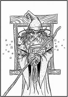 wizard coloring page coloring pages