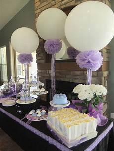 lavender bridal shower 36in balloons pompoms and frilly ribbons crafty ideas pinterest