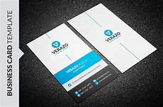 modern blue business card template business card