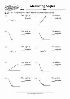 geometry worksheets measuring angles 805 angles how to measure angles with a protractor angles math geometry worksheets gcse math