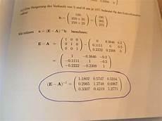 input output tabelle matrix hoch minus 1 berechnen