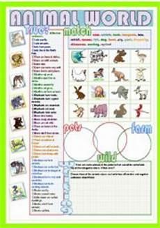 animal world worksheets 14372 esl worksheets for beginners animal world