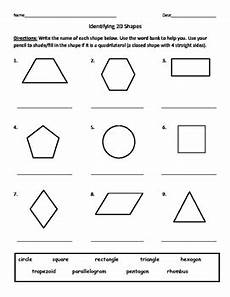 identifying shapes worksheets 1149 identifying quadrilaterals quadrangles and naming 2d shapes worksheet