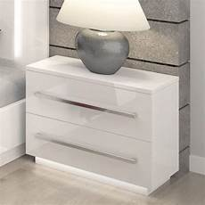 Bedside Table Led Bedside Chest Of Drawers High Gloss