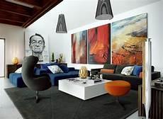 tableau moderne grand format dans le salon en 32 id 233 es d 233 co