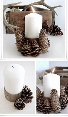 bougeoir fait maison 30 beautiful pinecone decorating ideas tutorials for