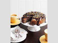 dark chocolate  pear  pistachio cake_image
