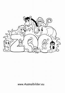 ausmalbild zoo zum ausdrucken