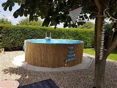 frame pool mit bambusmatten verkleiden geht einfach und