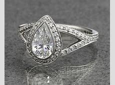 Five perfect pear shaped diamond engagement rings   Ritani