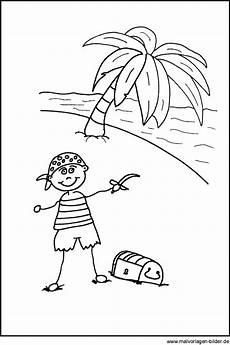 pirat mit seiner schatzkiste kostenlose ausmalbilder