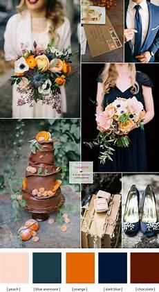 wedding theme blue and brown dark blue brown and orange wedding theme