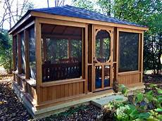 gazebo wall this gazebo features a low knee wall and large screened