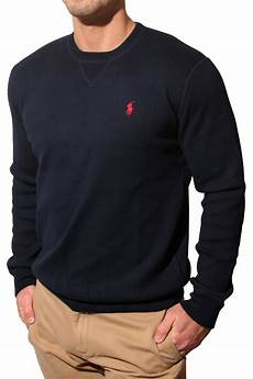 polo ralph classic sweatshirt in navy blue