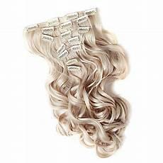 kanekalon fiber curly clip in hair extension golden