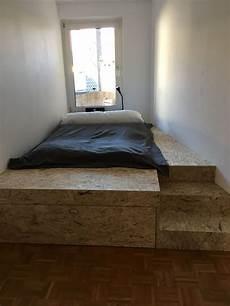 Podestbett Aus Osb Platten Podestbett Schlafzimmer