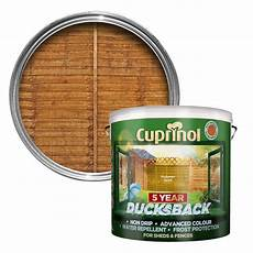 cuprinol 5 year ducksback autumn gold shed fence treatment 9l departments tradepoint