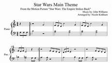 star wars main theme beginner sheet music