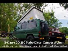 mercedes g wohnmobil mercedes g klasse gd 290 turbo diesel cer wohnmobil klima