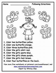 following directions worksheets free printable 11690 free following directions worksheet with color words provides a activity for students other